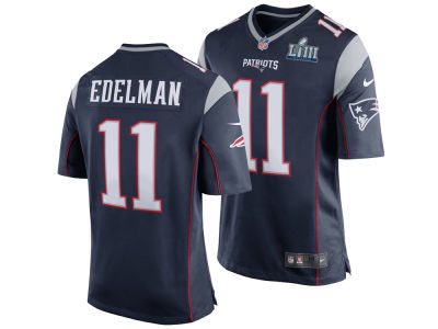 New England Patriots Julian Edelman Nike NFL Men's Super Bowl LIII Patch Game Jersey