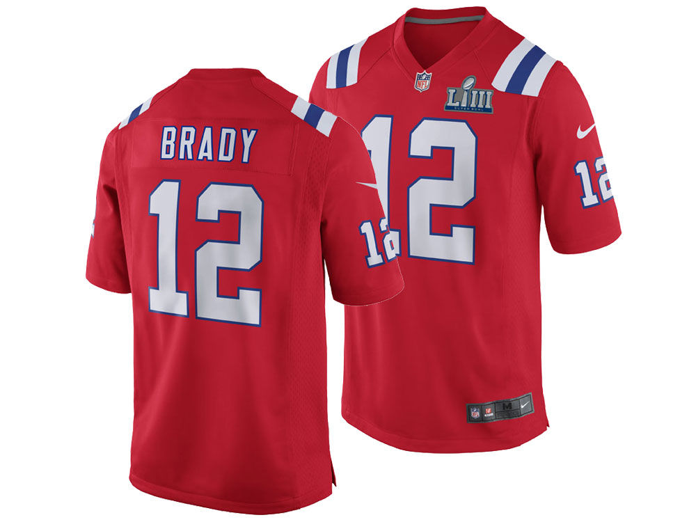 0edf2485f42 New England Patriots Tom Brady Nike NFL Men s Super Bowl LIII Patch Game  Jersey