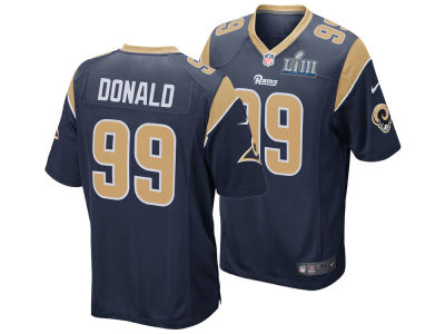 Los Angeles Rams Aaron Donald Nike NFL Men's Super Bowl LIII Patch Game Jersey