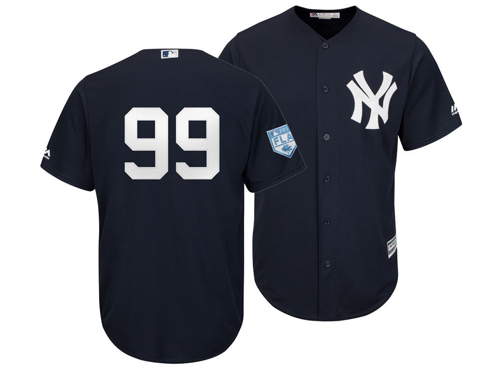 New York Yankees Aaron Judge 2019 MLB Men s Spring Training Patch Replica  Cool Base Jersey  fbef5fb9efb
