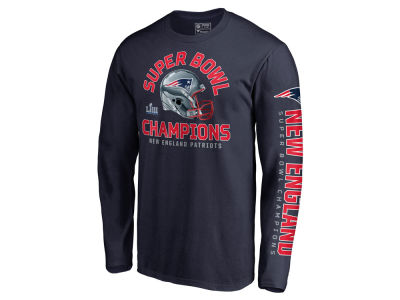 New England Patriots Majestic NFL Men's Super Bowl LIII Championship Two Minute Drill Long Sleeve T-Shirt