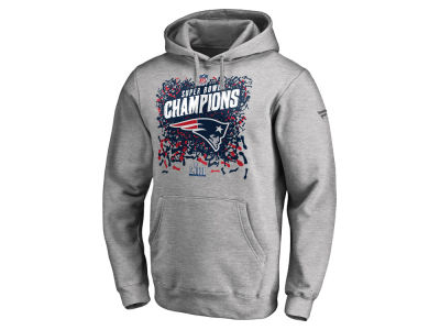 f272ec6e9 New England Patriots Majestic NFL Men s Super Bowl LIII Championship  Official Locker Room Trophy Collection Hoodie