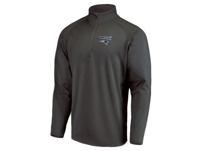 New England Patriots Majestic NFL Men's Super Bowl LIII Championship Play Action Pass Quarter Zip Pullover