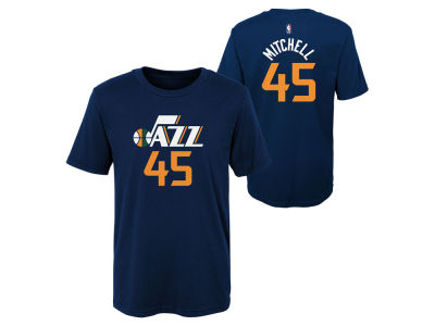 Utah Jazz Donovan Mitchell Outerstuff NBA Kids Replica Name and Number T- Shirt b9a61c673