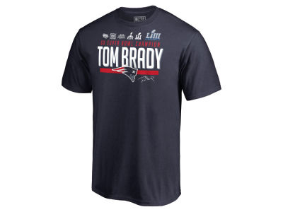 New England Patriots Majestic NFL Men's Super Bowl LIII Champion Tom Brady 6X T-Shirt