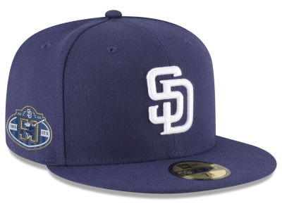 feb76a59d3f San Diego Padres New Era 2019 MLB Authentic Collection Anniversary Patch  59FIFTY Cap