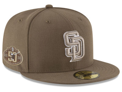 San Diego Padres New Era 2019 MLB Authentic Collection Anniversary Patch  59FIFTY Cap a74f90ae098b