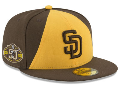 San Diego Padres New Era 2019 MLB Authentic Collection Anniversary Patch  59FIFTY Cap 1f5d76d12de