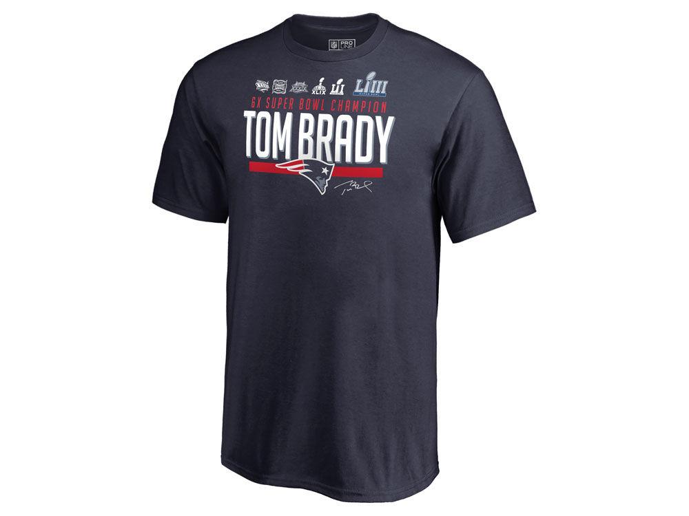 New England Patriots Tom Brady NFL Youth Multi Champion T-Shirt ... 639007b72