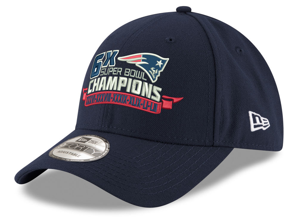 New England Patriots New Era NFL Super Bowl 6X Champion 9FORTY Cap ... 58a3b5da0