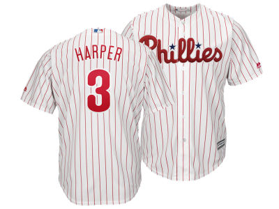 Philadelphia Phillies Bryce Harper Majestic MLB Men s Player Replica Cool  Base Jersey fbd152ad6