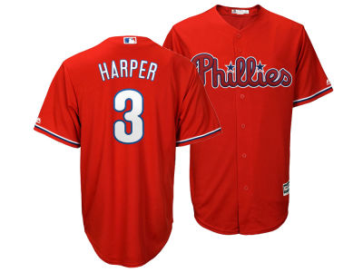 Philadelphia Phillies Bryce Harper Majestic MLB Men s Player Replica Cool  Base Jersey c679c57dc7f