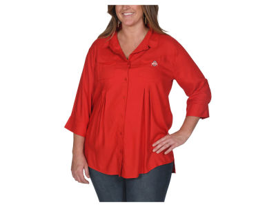 NCAA Women's Plus Size Front Pleat Button Up Shirt