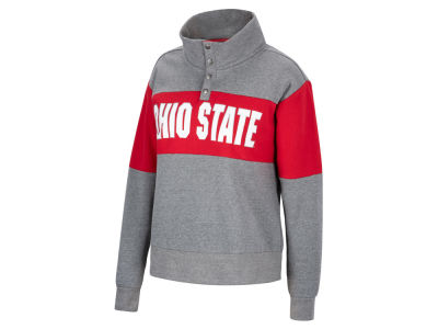 Top of the World NCAA Women's Colorblock Half Snap Sweatshirt