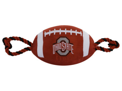 Nylon Football with Rope Pet Toy