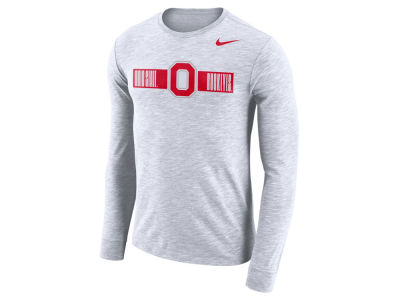 Nike NCAA Men's Dri-Fit Cotton Slub Long Sleeve T-Shirt