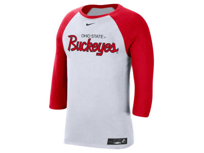 Nike NCAA Men's Dri-Fit Cotton Raglan T-Shirt