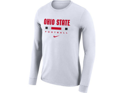 Nike NCAA Men's Dri-Fit Cotton Icon Wordmark Long Sleeve T-Shirt