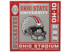 Ohio State Buckeyes Team Ticket Deep Wood Block Collectibles