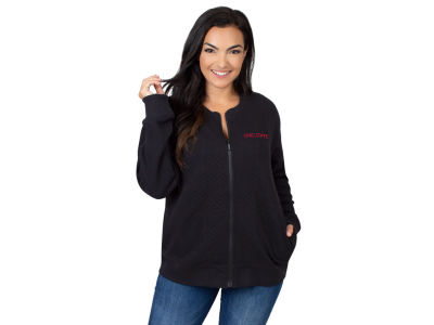 University Girl NCAA Women's Quilted Zip Up Jacket