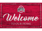 Ohio State Buckeyes Welcome Sign Team Color Collectibles