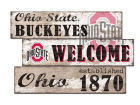 Ohio State Buckeyes 3 Panel Team Welcome Sign Collectibles