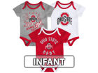 Ohio State Buckeyes Outerstuff NCAA Infant Creeper 3 Piece Set Infant Apparel