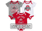 Ohio State Buckeyes Outerstuff NCAA Newborn 3 Piece Creeper Set Outfits
