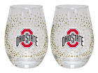 Ohio State Buckeyes 2pack Glitter Wine Tumbler Kitchen & Bar